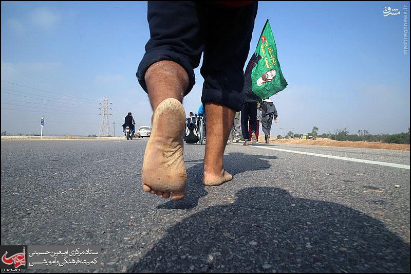 ظهور حقیقت ارض کربلا در اصل  پیاده روی اربعین